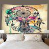 Indoor Wall Decoration Feathers Pendant Pattern Polyester Printing Tapestry - MULTI-A