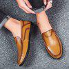 Men's Leather Peas Shoes Lazy Trend - LIGHT BROWN
