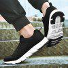 Men's Flying Woven Breathable Sports Shoes Casual Mesh - BLACK