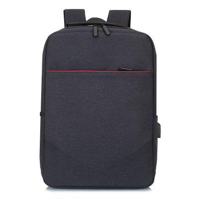 Men's Waterproof Backpack Nylon Wide Shoulder Strap Laptop Bag