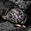 KUNHUANG 1002 Men's Sports Watch Three Eyes Six Needles Multifunction Waterproof Calendar Function - MULTI-A