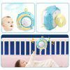 Baby Rattles Crib Toy Holder Rotating Musical Box Projection 0 - 12 Months Infant Toys - BLUE