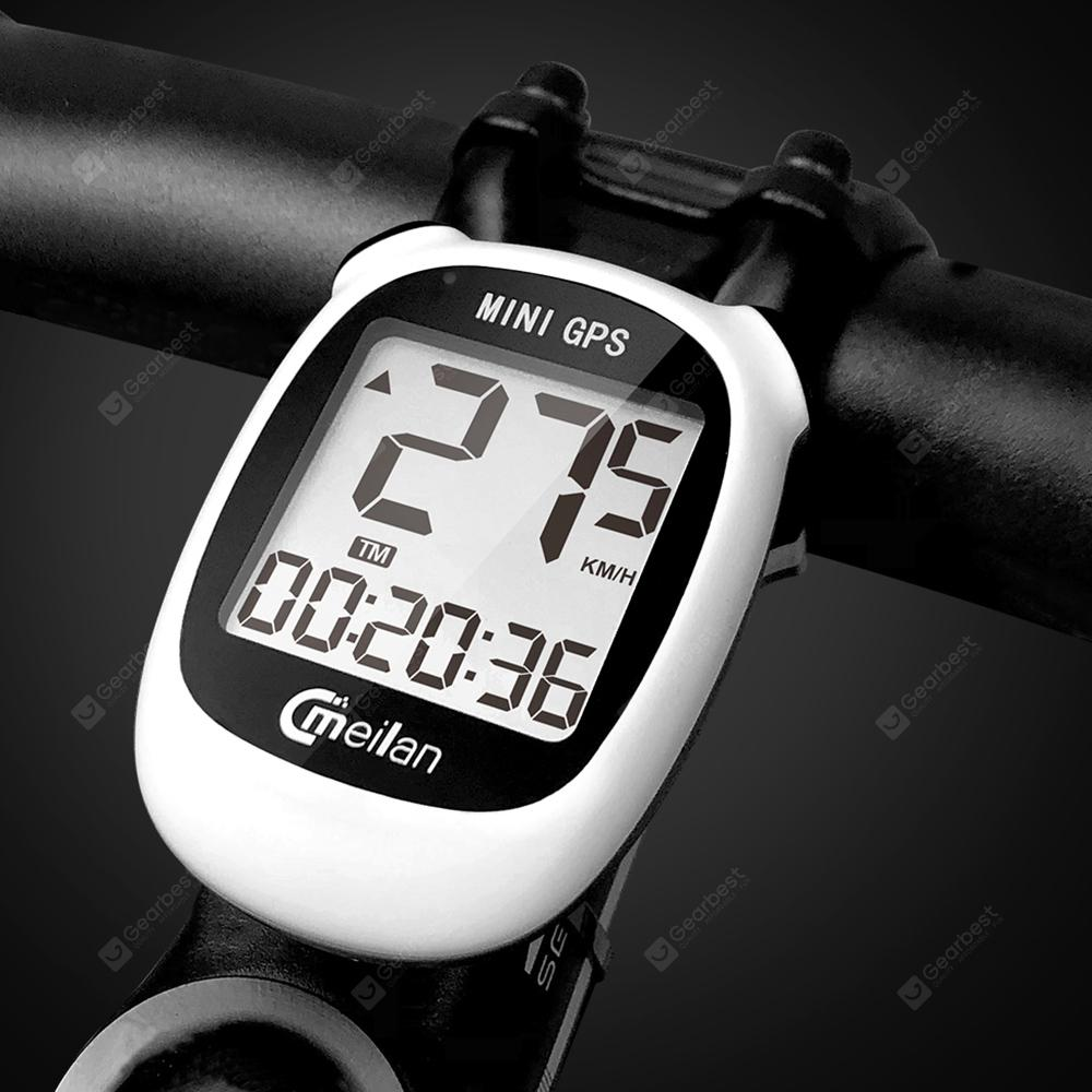 MEILAN M3 Mini 1.6 inch LCD Backlight GPS Bike Computer Wireless Cycling Bicycle IPX6 Waterproof Speedometer Odometer - White