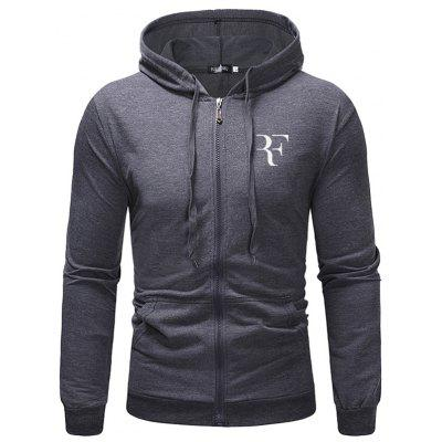 Casual Long Sleeve Men's Hoodie Small Terry Sweater Letter Print Sports Hooded