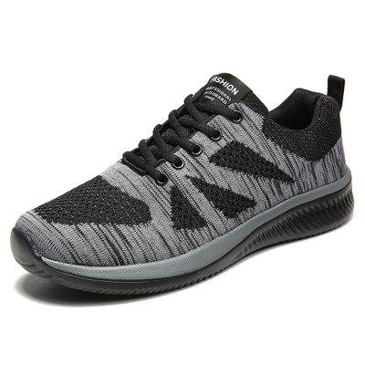Ultra-light Fly Woven Breathable Men's Sports Shoes Casual Running