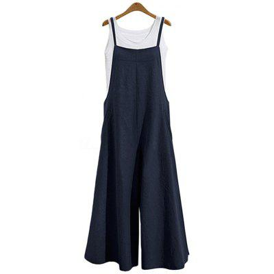 Loose Casual Style Women One-piece Wide-leg Pants