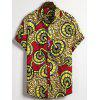 Thin Ethnic Floral Casual Men's Short-sleeved Shirt - MULTI-A