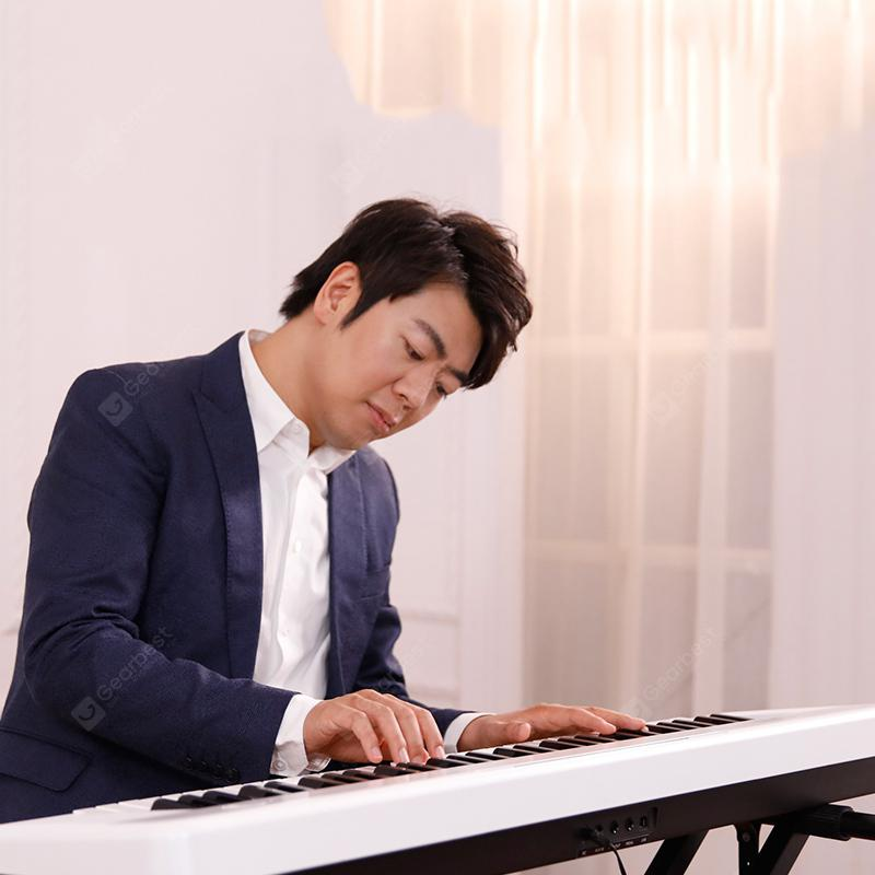 TheONE Keyboard Air 61 Key Ultra-thin and Portable Electronic Organ from Xiaomi youpin - White