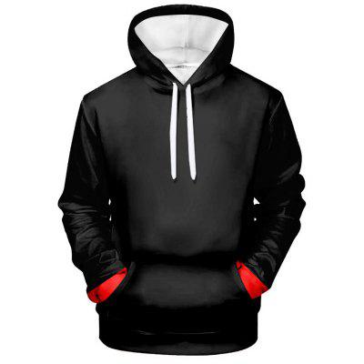 Men's Creative 3D Simple Print Hoodie with Long Sleeve