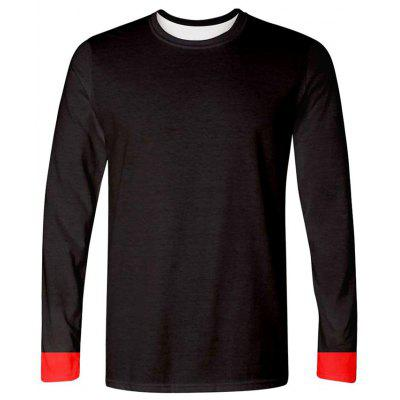 Creative 3D Simple Print Long Sleeve Men's T-shirt