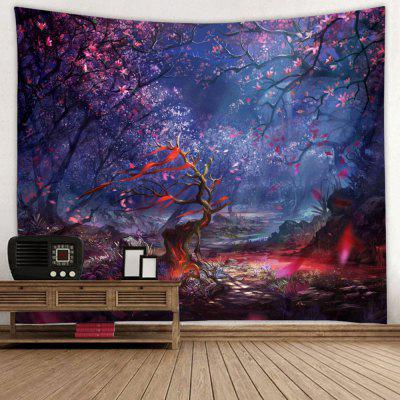 Abstract European Dark Style Forest Print Tapestry