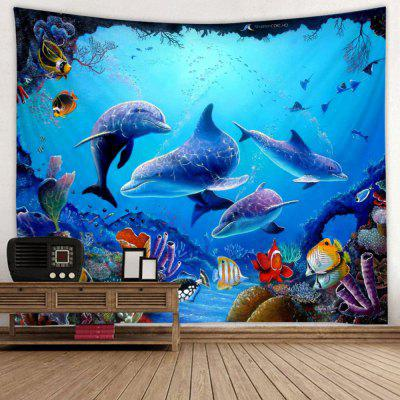 Fashion Underwater World Dolphin Pattern Print Tapestry