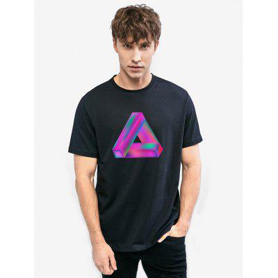 Zillife Colorful Conceptual Triangle Printed Unisex T-shirt