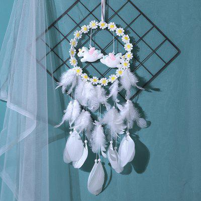 Lovely Unicorn + Feathers Dream Catcher
