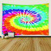 3D Digital Abstract Rainbow Print Colorful Tapestry - MULTI