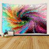 3D Colorful Oil Painting Style Print Psychedelic Space Waterproof Tapestry - MULTI
