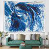 Abstract Style Wave Pattern Digital Print Tapestry - BLUEBERRY BLUE