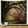 3D Forest + Flower Pattern Print Tapestry Wall Decoration Cloth - CAMOUFLAGE GREEN