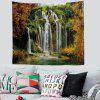 European Landscape Print Wall Decoration Tapestry Background Cloth - FERN GREEN