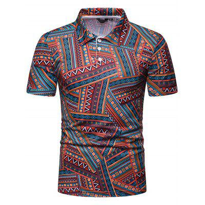 Heren casual T-shirt met print