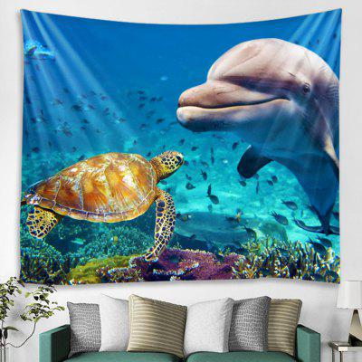 Seabed Animal Pattern Wall Decoration Tapestry