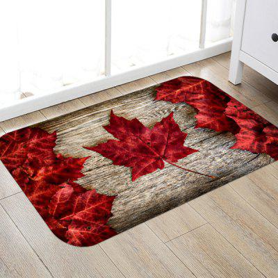 Maple Leaf Pattern Background Floor Mat Carpet