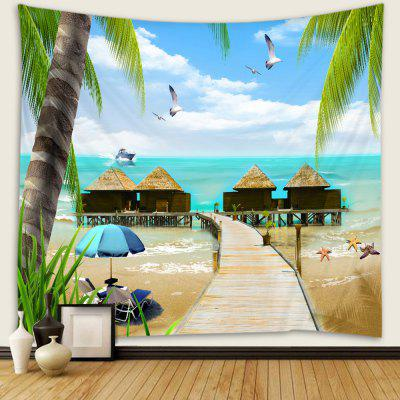 Seaside Grass House Background Wall Decoration Tapestry