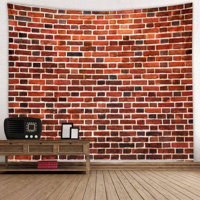 Red Brick Pattern Wall Decoration Tapestry