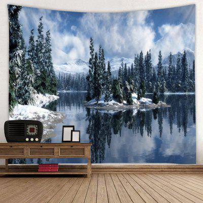 Blue Sky White Clouds Reflection Pattern Wall Decoration Tapestry