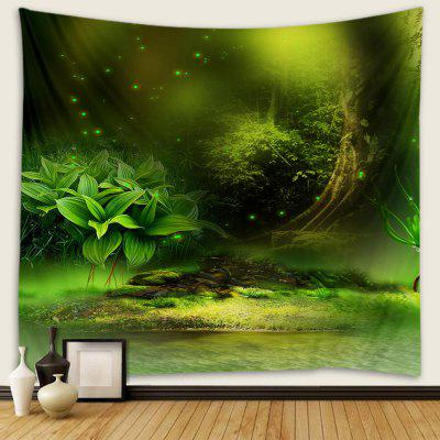 Green Forest Pattern Print Tapestry