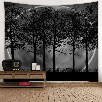 Oversized Ring Background Tree Print Tapestry
