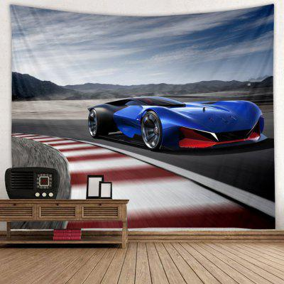 Fashion Blue Roadster Car Print Tapestry