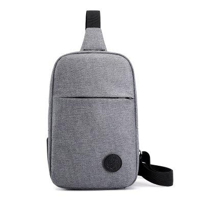 Simple Men's Crossbody Backpack Solid Color Single-shoulder Chest Bag