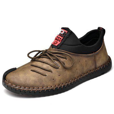 Autumn Winter Lace Men's Handmade Casual Shoes