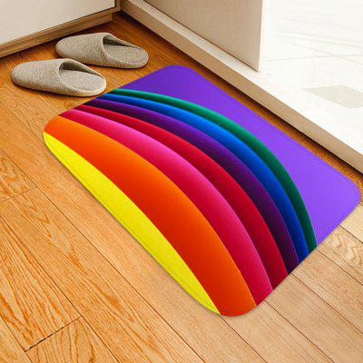 Rainbow Pattern Background Floor Mat Carpet