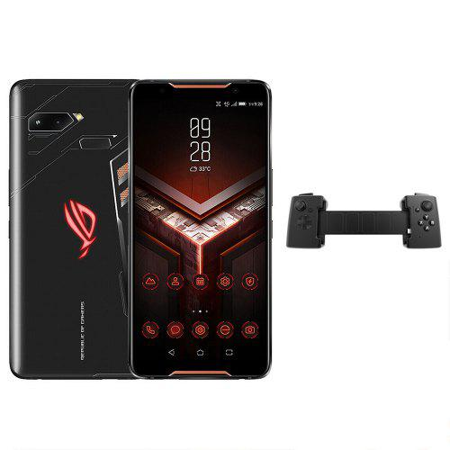 Gearbest ASUS ROG ZS600KL Gaming Phone 4G Phablet International Version - Black Gift Box Version 6.0 inch Android 8.1 Qualcomm Snapdragon 845 Octa Core 8GB RAM 128GB ROM 12.0MP + 8.0MP Rear Camera 4000mAh Battery