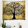 Vintage Leaf Pattern Wall Decoration Tapestry - KHAKI