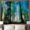 Trees Under the Sun Wall Decoration Tapestry - MEDIUM FOREST GREEN