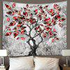 Red Leaf Tree Hand Painted Pattern Wall Decoration Tapestry - PLATINUM