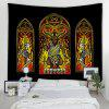 Abstract Mysterious Attention Tarot Pattern Print Tapestry - BLACK