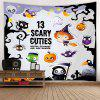 Cartoon Halloween Style Pattern Print Tapestry - MULTI-A