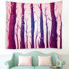 Vintage Hand Drawn Style Tree Forest Pattern Tapestry - VELVET MAROON