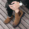 Stylish Large Size Men's Leather Boots - LIGHT BROWN