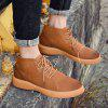 AILADUN Men's England High Top Boots Casual Shoes Large Size - BROWN