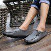 Men's Ultra Light Peas Shoes Handmade Leather - GRAY CLOUD