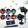 Outdoor Remote Control 3D Projection Lawn Lamp - BLACK