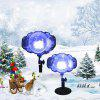 SE677 - 03 Snow Pattern Lamp Outdoor Magic Ball Lawn Light - BLACK