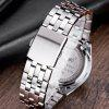 LONGBO 8650 Steel Belt Fashion Men Casual Quartz Watch Three-eye Six-needle Design - BLACK