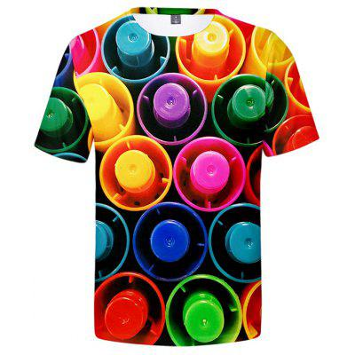 Men's Creative 3D Print Short Sleeve T-shirt
