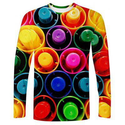 Men's Creative 3D Print Long Sleeve T-shirt